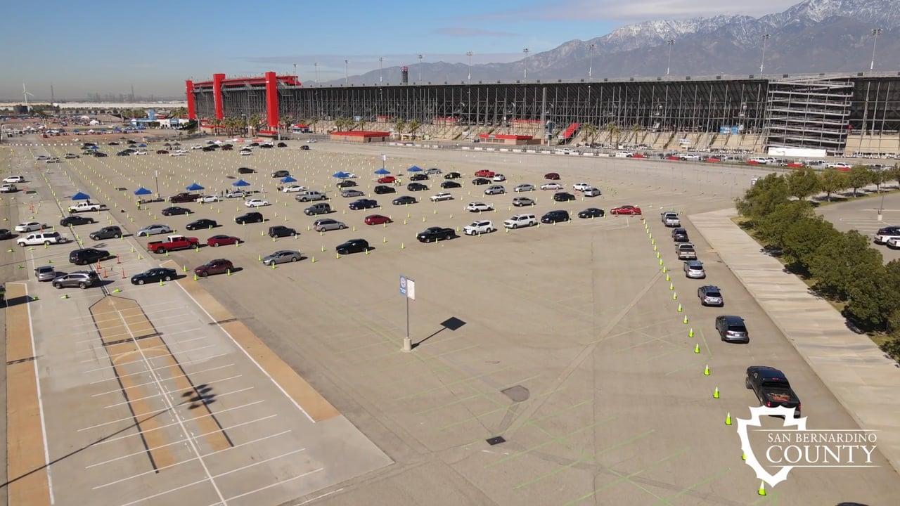 San Bernardino County COVID-19 Vaccine Super Site Auto Club Speedway Fontana