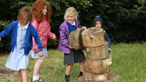 Watch Building a log tower