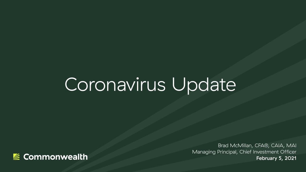 Coronavirus Update from Commonwealth CIO Brad McMillan, February 5, 2021
