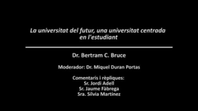 The future of the university, Girona, 2008