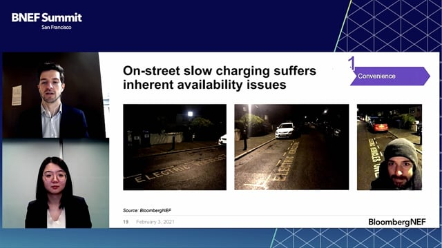 """Watch """"<h3>BNEF Debate: How Much Charging Infrastructure Do We Really Need? by Ryan Fisher, Senior Associate, Electrified Transport, BloombergNEF & Siyi Mi, Associate, Electrified Transport, BloombergNEF</h3>"""""""