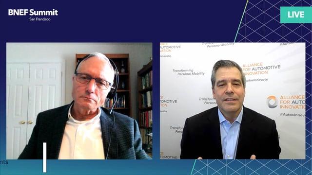 "Watch ""<h3>John Bozzella, President & CEO, Alliance for Automotive Innovation interviewed by Stephen Munro, Senior Editor, BloombergNEF</h3>"""