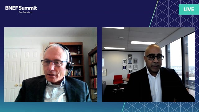"Watch ""<h3>Arun Thangaraj, Associate Deputy Minister, Transport Canada interviewed by Stephen Munro, Senior Editor, BloombergNEF</h3>"""