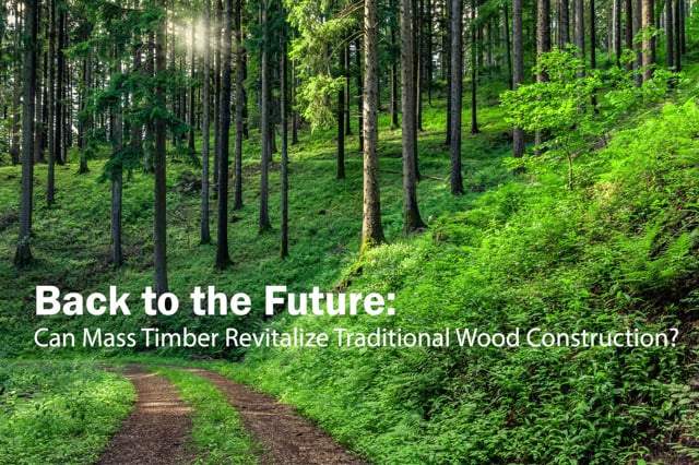 Back to the Future: Can Mass Timber Revitalize Traditional Wood Construction? - Conrad Leander Brotz