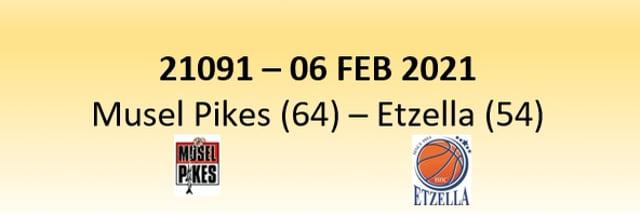 N1D 21091 Musel Pikes (64) - Etzella Ettelbruck (54) 06/02/2021