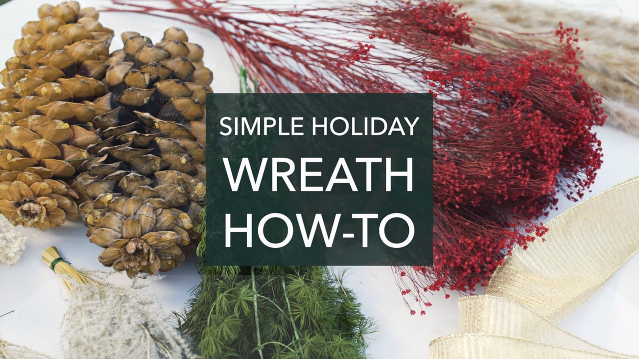 How to Make a Simple Holiday Wreath