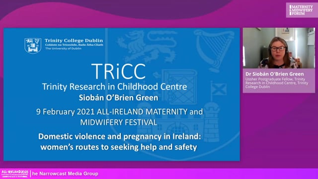 4a. Dr Siobán O'Brien Green - Domestic violence and pregnancy in Ireland