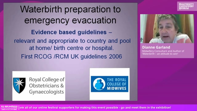 3a. Dianne Garland - Waterbirth skills and managing in Covid-19 times