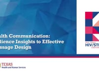 Channel 1—Session 06: Health Communication—Audience Insights to Effective Message Design