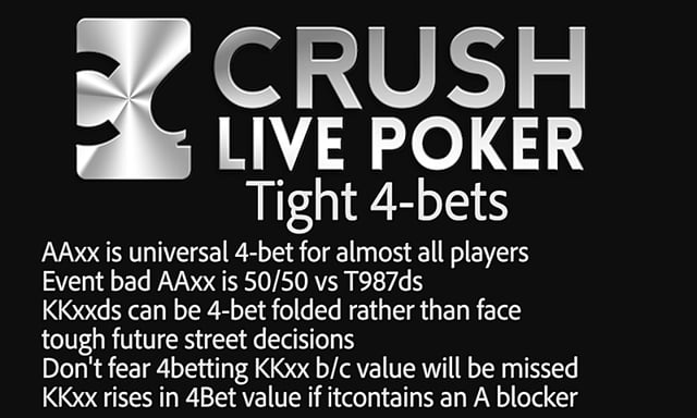 #7: Preflop 4-bet thoughts