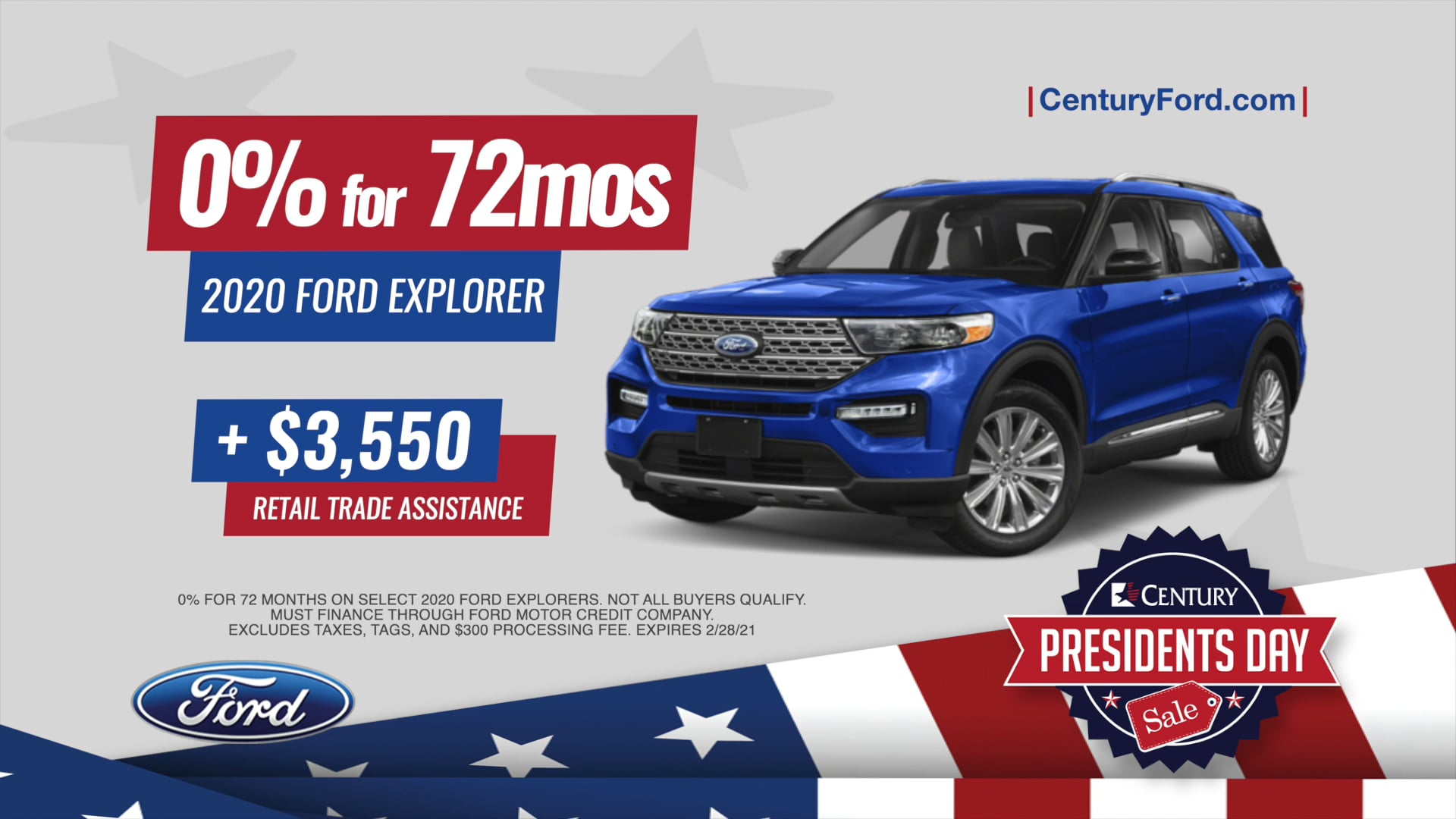 Century Ford President's Day 2021
