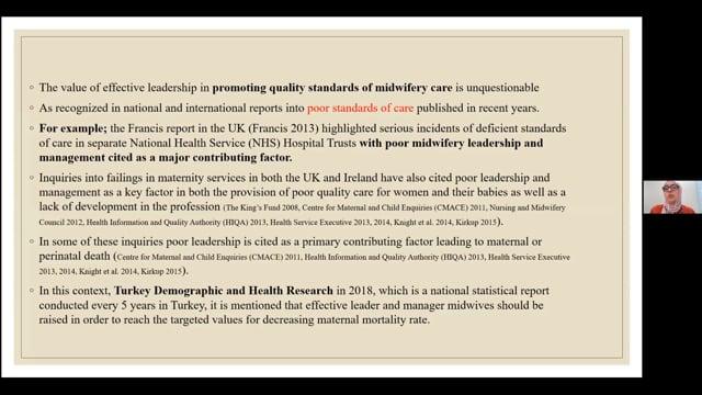 6b. Guldane Damla Kaya - The role of leadership and management in midwifery education