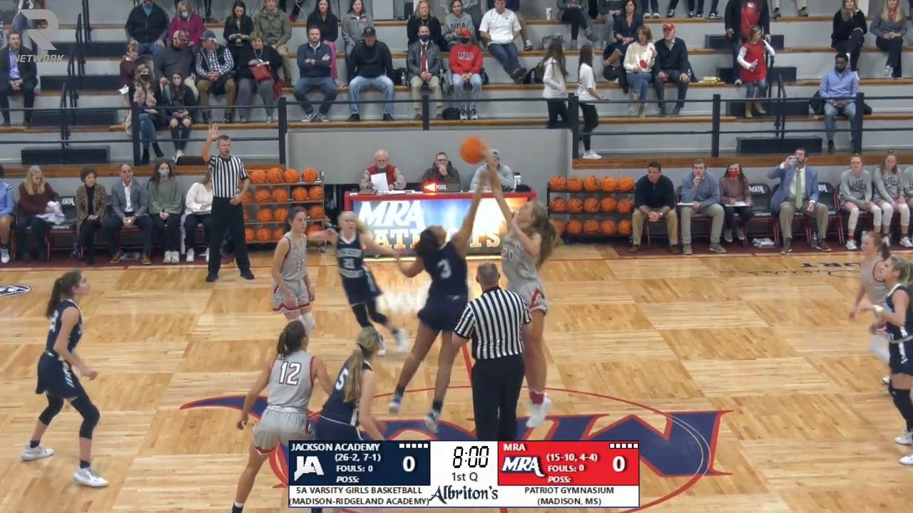 Varsity Girls Basketball vs MRA - 02-12-21