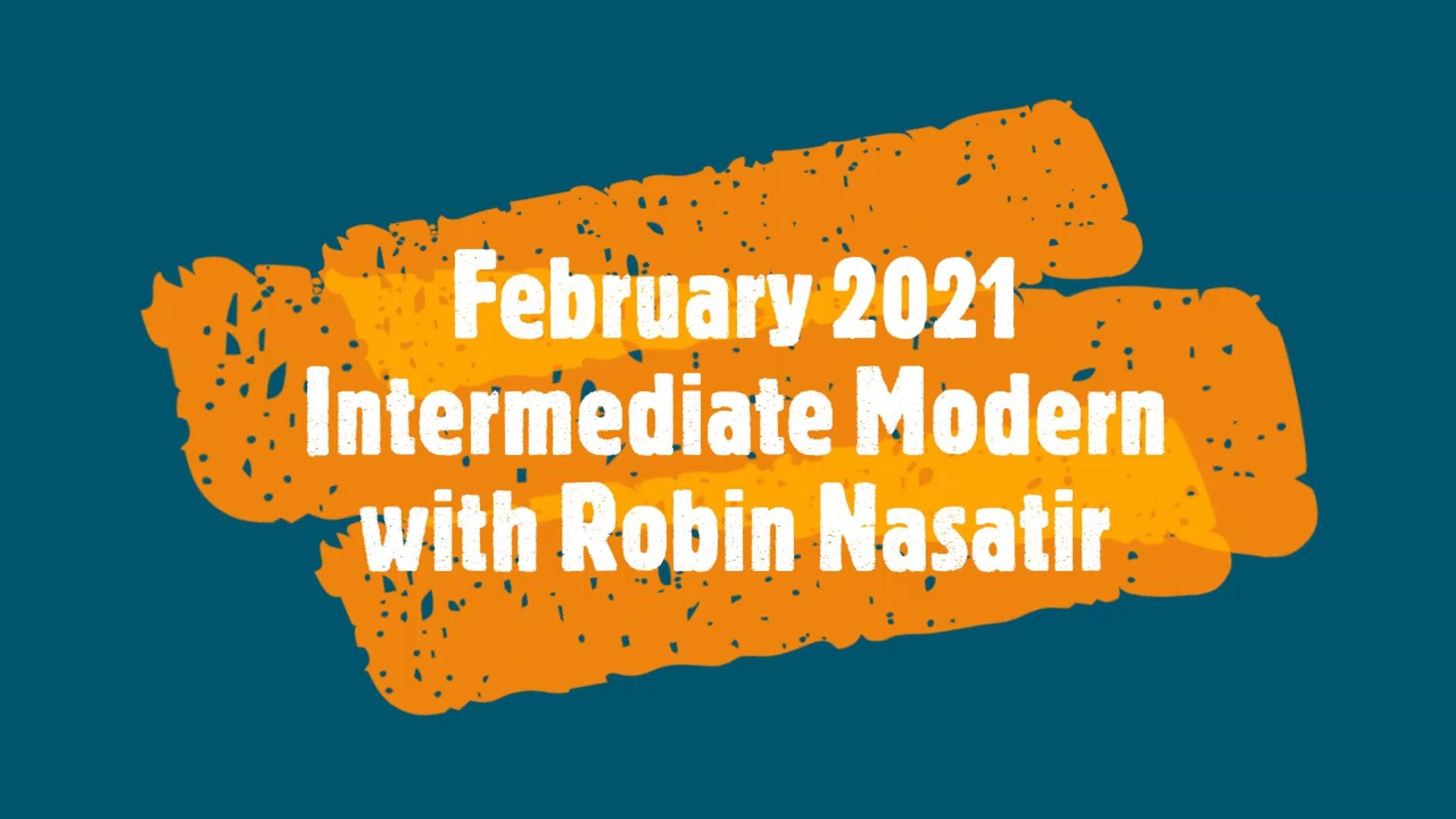 February 2021 Intermediate Modern Dance