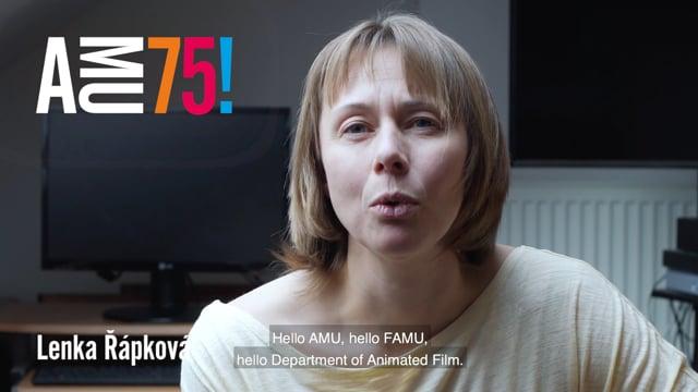 Lenka Řápková je sekretářkou Katedry animované tvorby FAMU už pěknou řádku let. Ve videu sama říká, že katedru i fakultu považuje za svou rodinu.