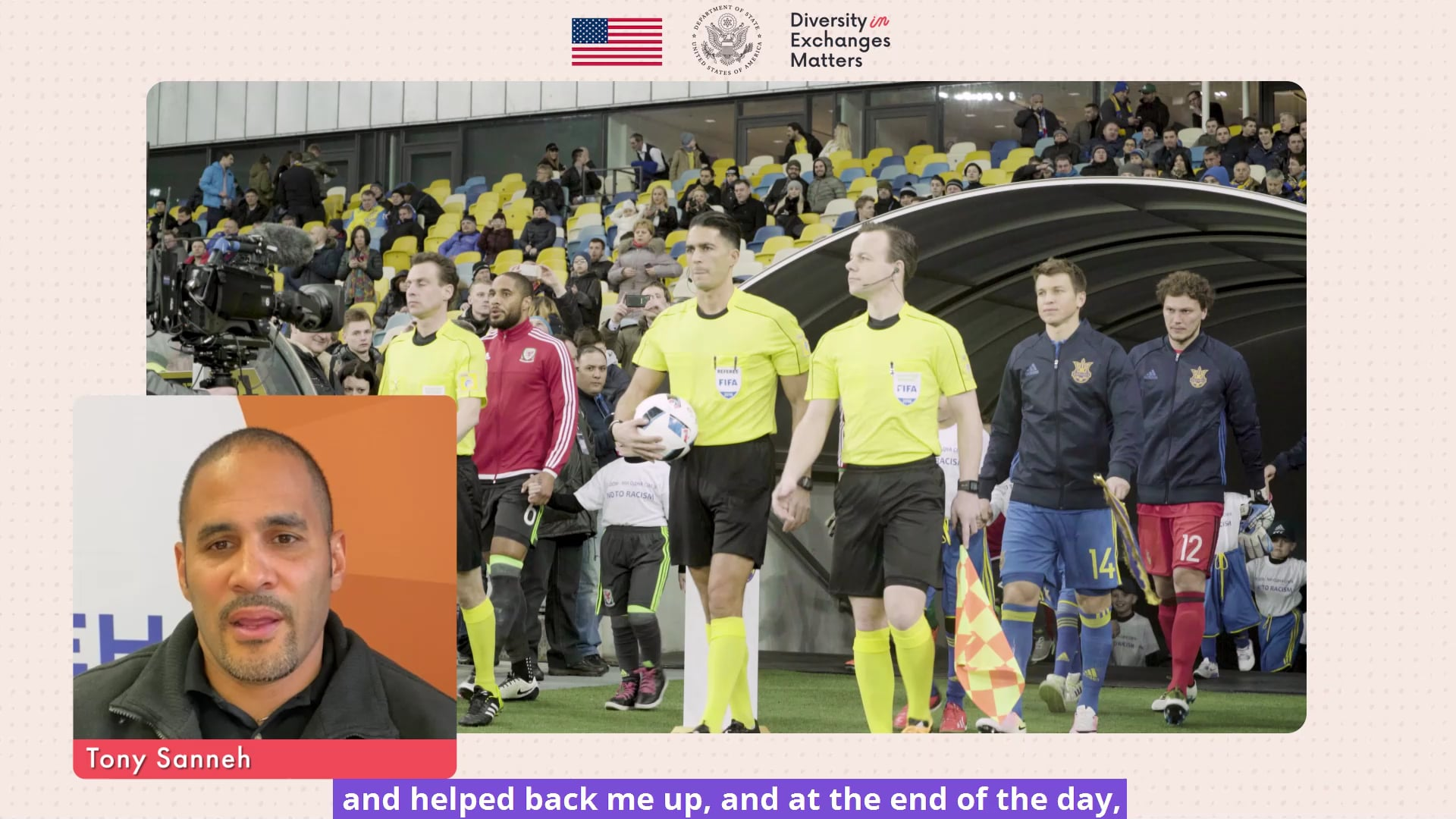 Major League Soccer Player Tony Sanneh talks about Diversity and Inclusion in Soccer