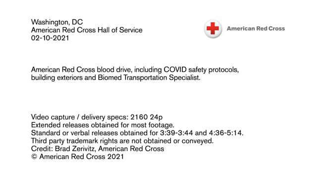 Biomed B-roll - Hall of Service Blood Drive