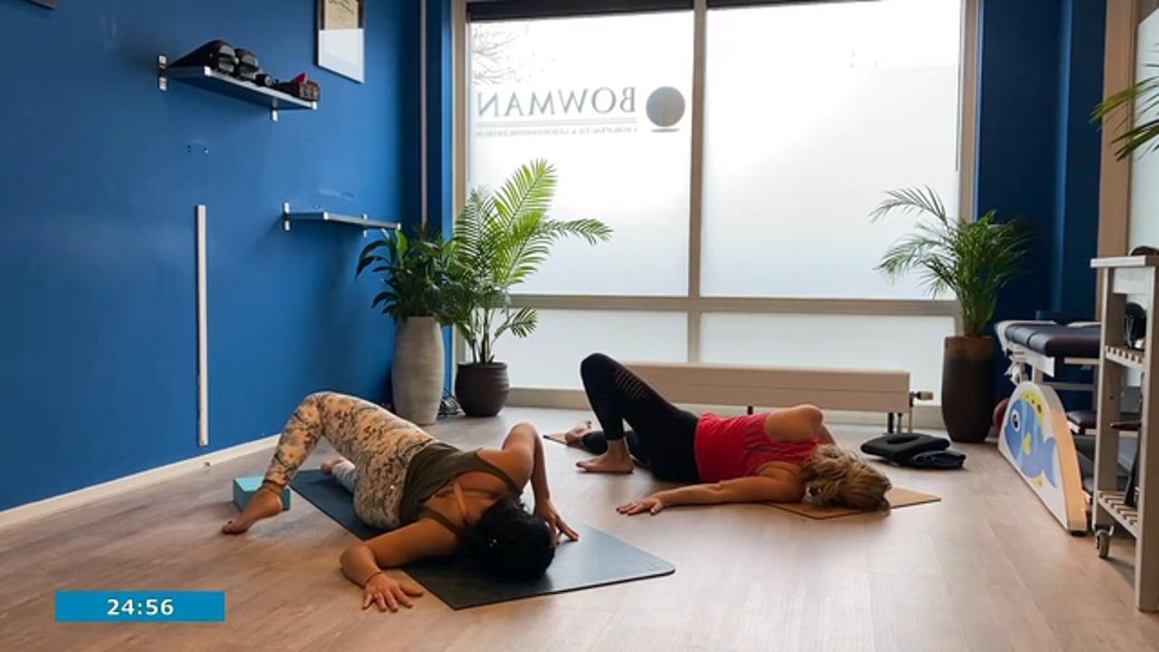 Yoga voor kantoorwerkers met Hilde en Karla
