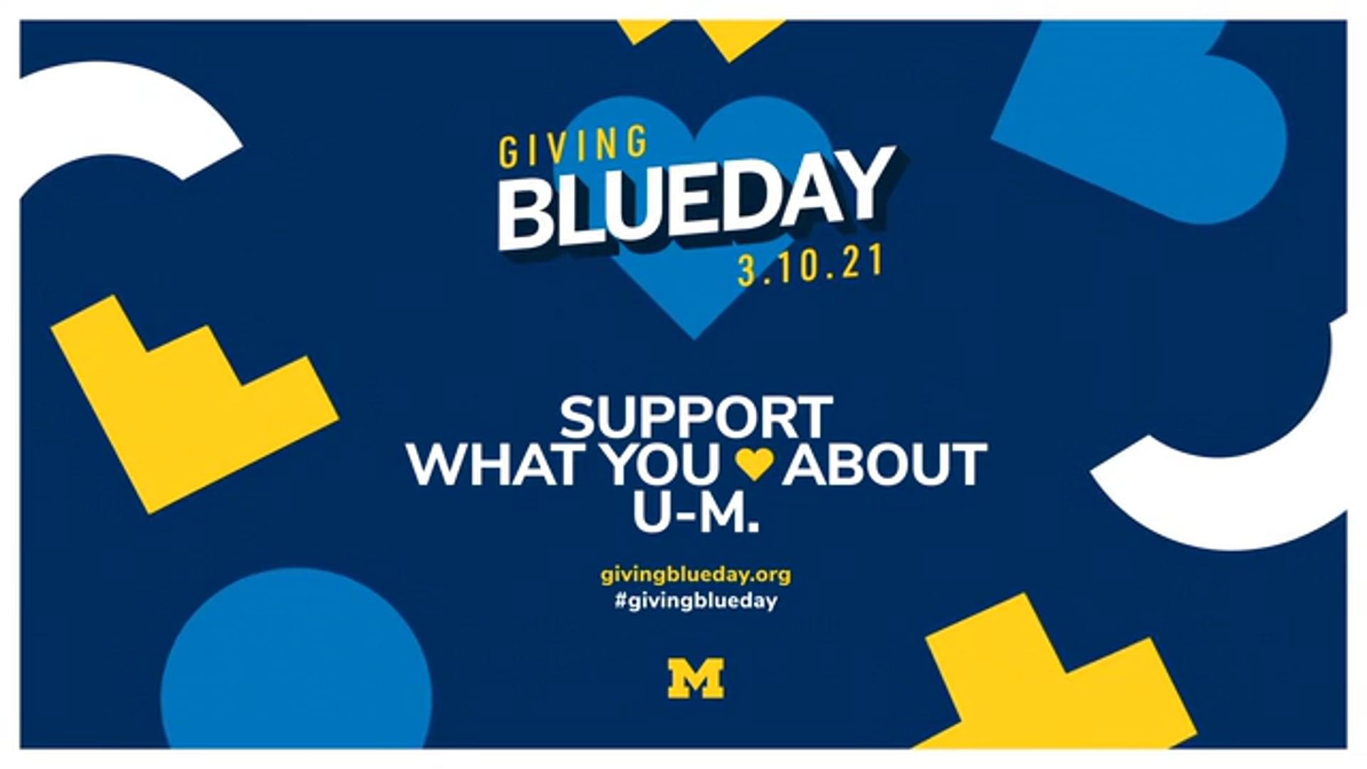 U-M LSA   Giving Blueday 2021