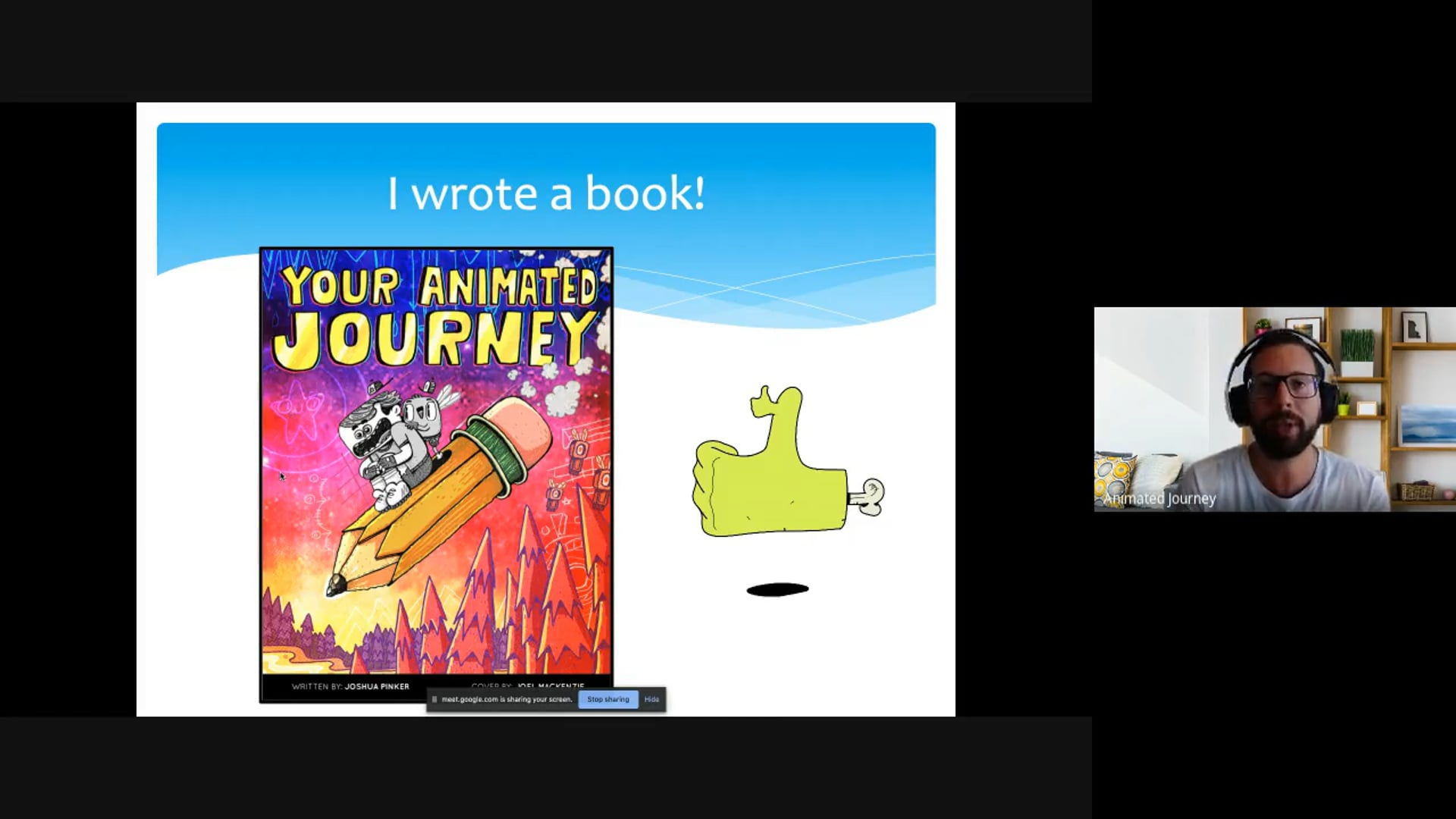 @SislerCREATE talk on @YAJofficialbook - Your Animated Journey'
