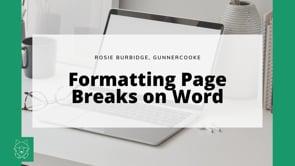 Formatting Page Breaks - Obsessional Stuff