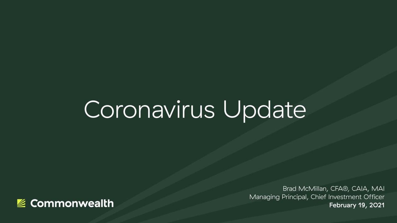 Coronavirus Update from Commonwealth CIO Brad McMillan, February 19, 2021