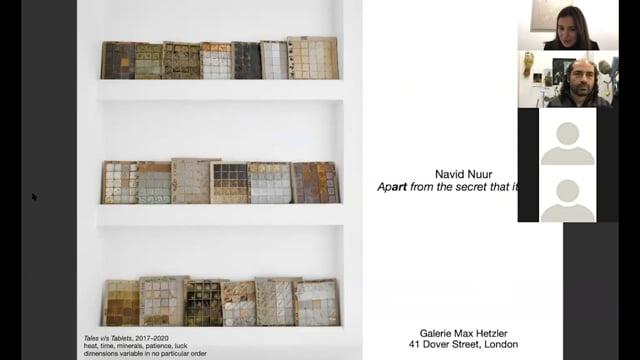 Artist Talk: Navid Nuur - Galerie Max Hetzler
