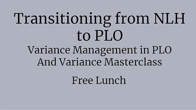 #57: Variance Management in PLO And Variance Masterclass