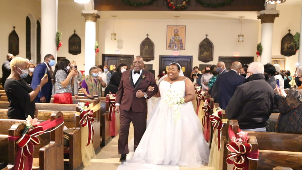 Natasha and Jamall's Wedding Day 1 Minute