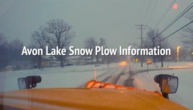 Thumbnail of video Avon Lake Snow Plow Information PSA