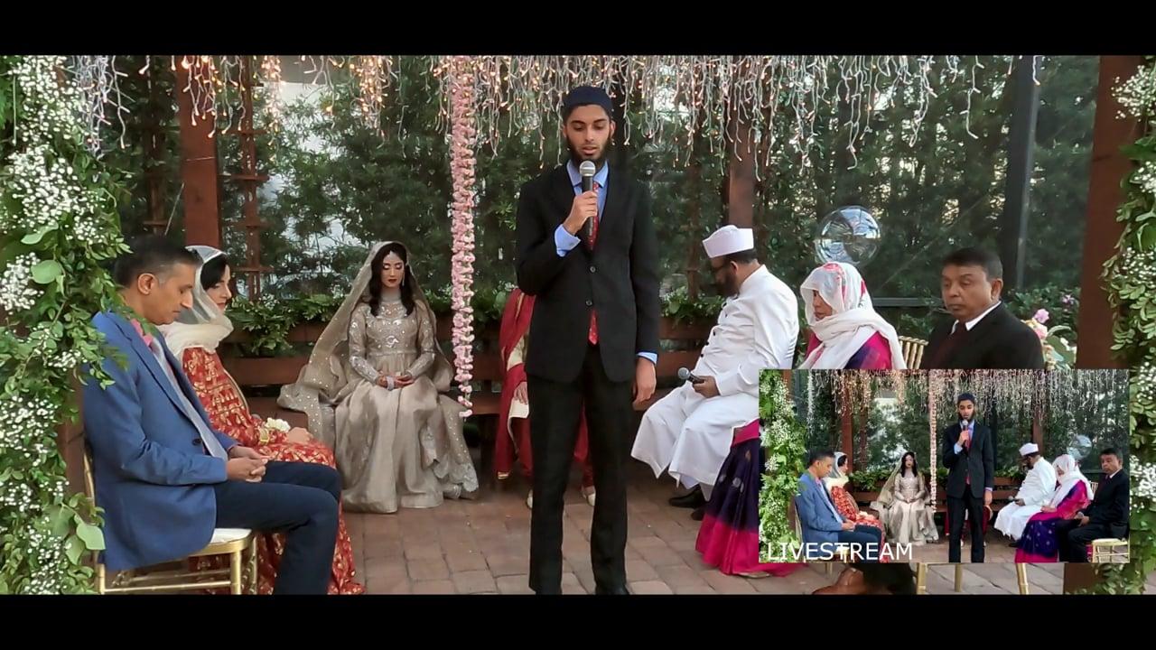 Hanna and Raihan wedding ceremony