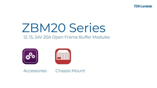ZBM20 12V, 15V and 24V 20A Buffer (Hold-Up) Modules