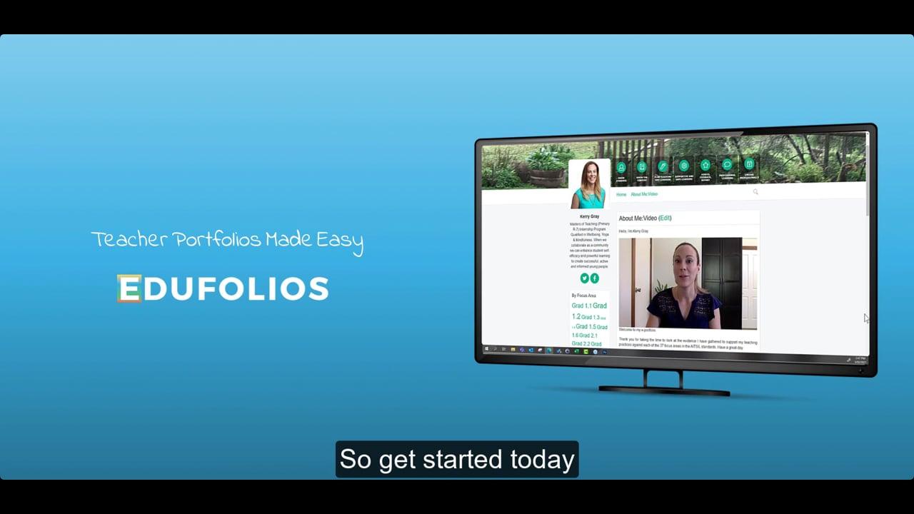 Introducing Edufolios With Subtitles
