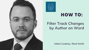 Filtering Track Changes on Word by Author