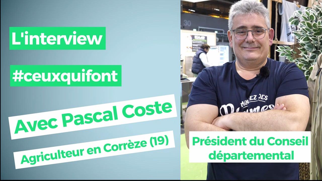 Pascal Coste, Président du conseil départemental de Corrèze :