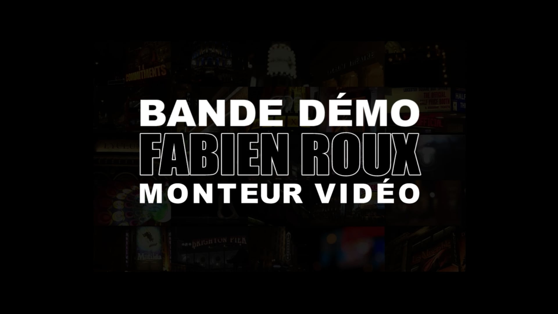 Fabien Roux - Video Editor Showreel