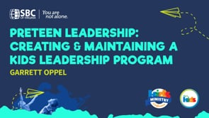 Preteen Leadership: Creating & Maintaining a Kid's Leadership Program with Garrett Oppel   KMC 2021