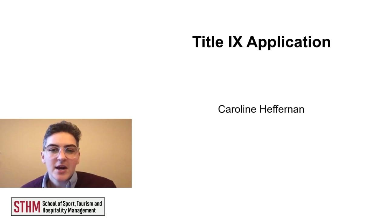 61995Title IX Application