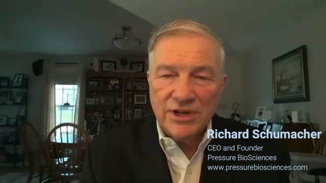 Showcase Video: Richard Schumacher, CEO of Pressure BioSciences discusses the company's recent news