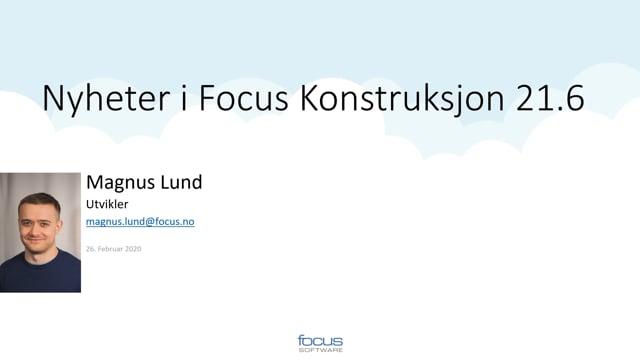 Nyheter i Focus Konstruksjon 21.6
