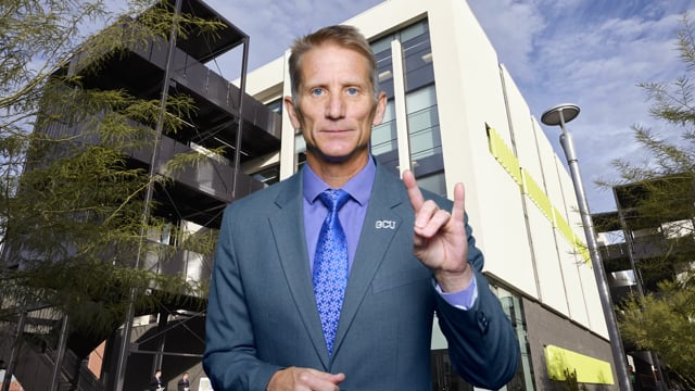 Button to play video: Dean's Message - Colangelo College of Business