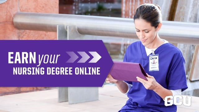 Button to play video: Online Nursing Time _ Grand Canyon University