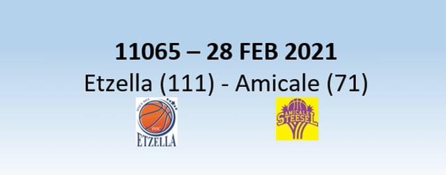 N1H 11065 Etzella Ettelbruck (111) - Amicale Steesel (71) 28/02/2021