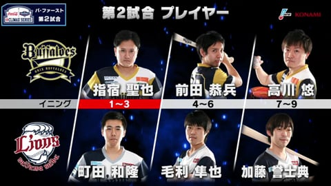 【eBASEBALL】eクライマックスシリーズ ファーストステージ B-L 第2戦