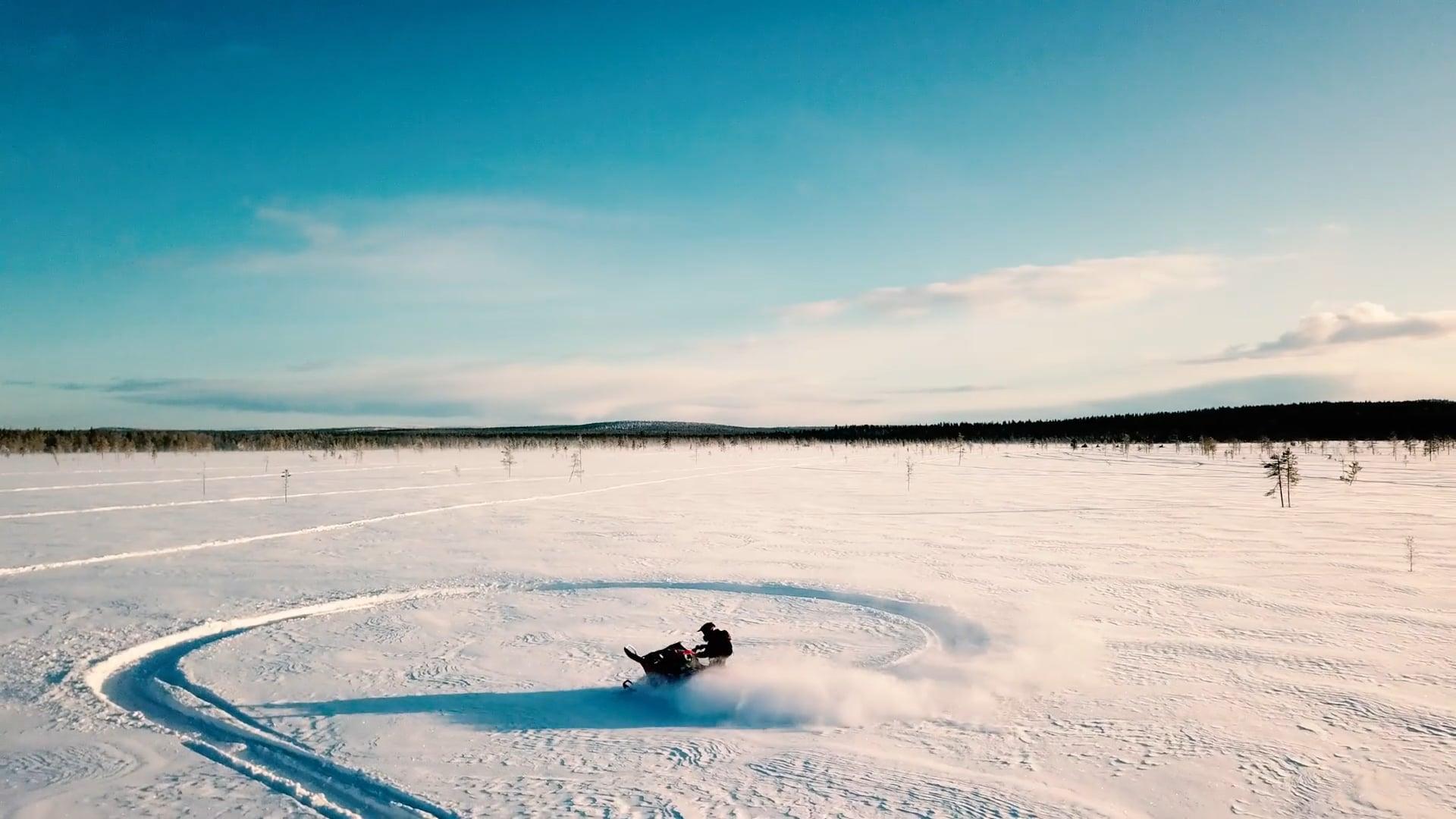 """Imageclip """"Schneemobiltour Finnland"""""""