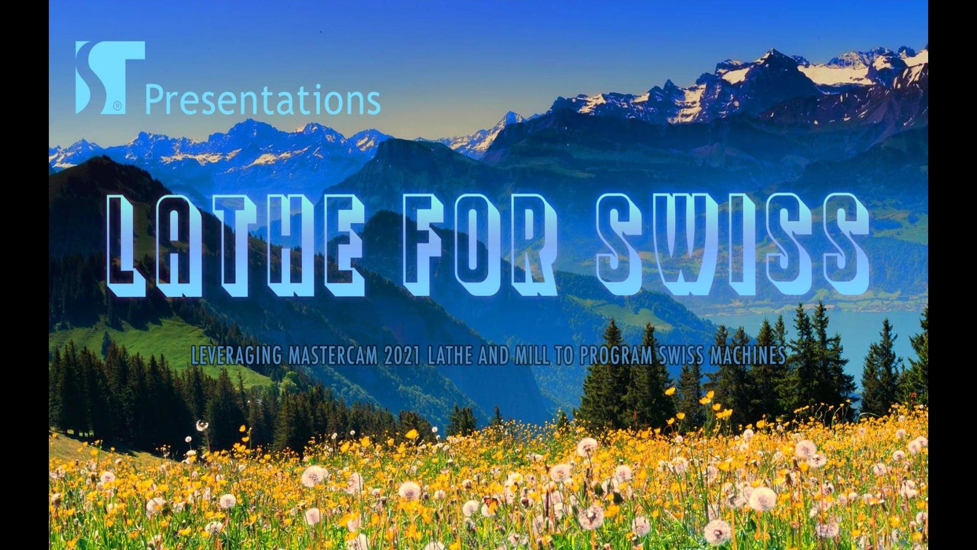 Mastercam Lathe for Swiss