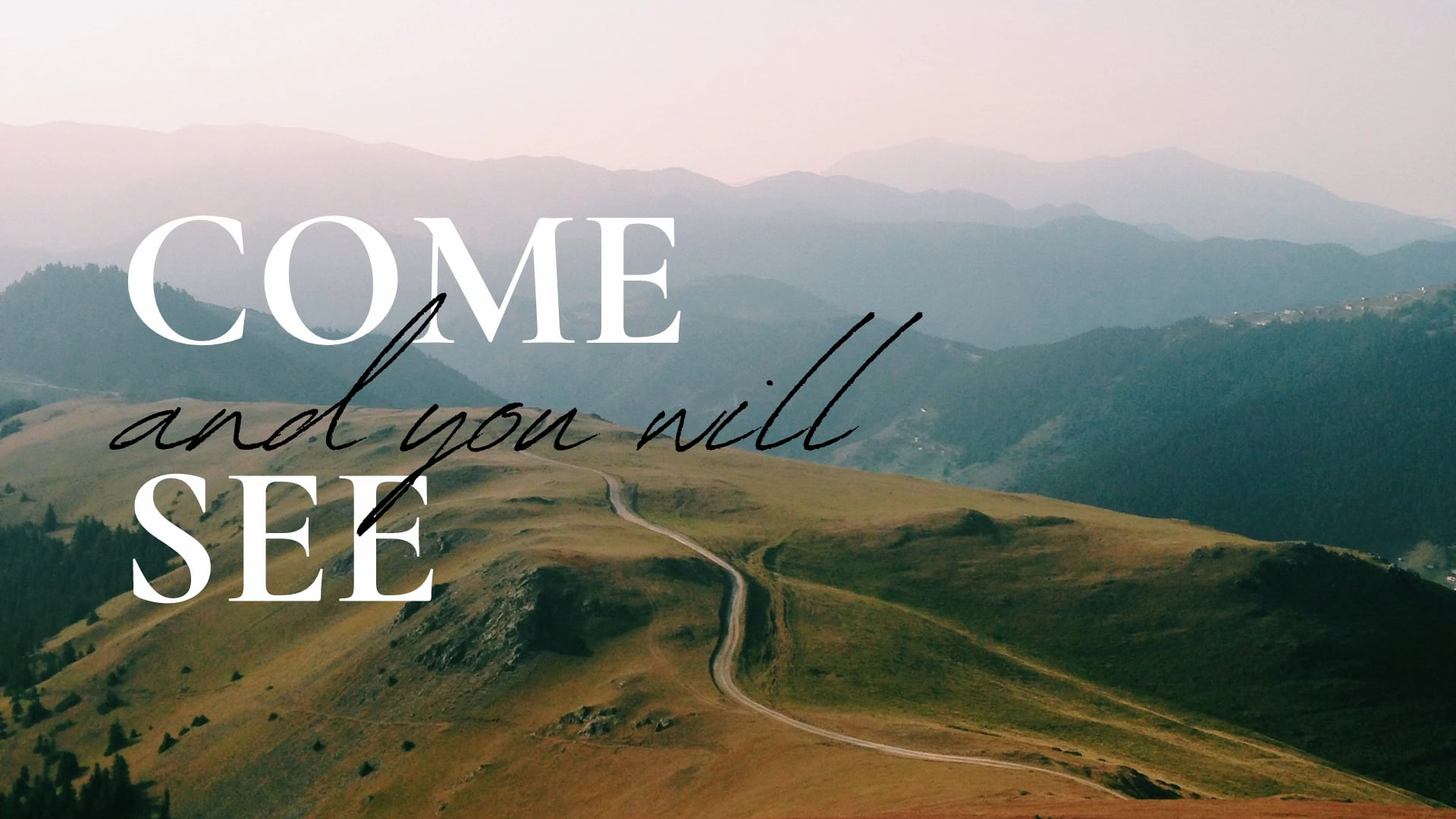 Come and you will See – Week 2