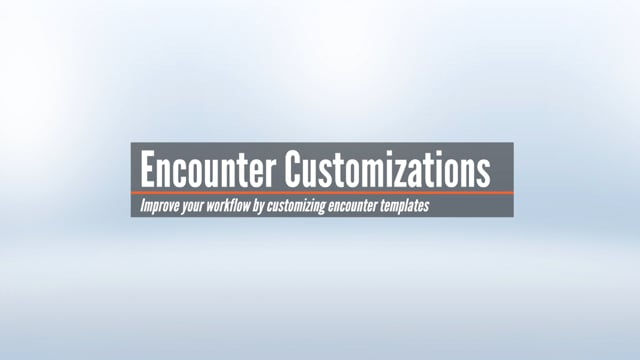 Customizing the Encounter