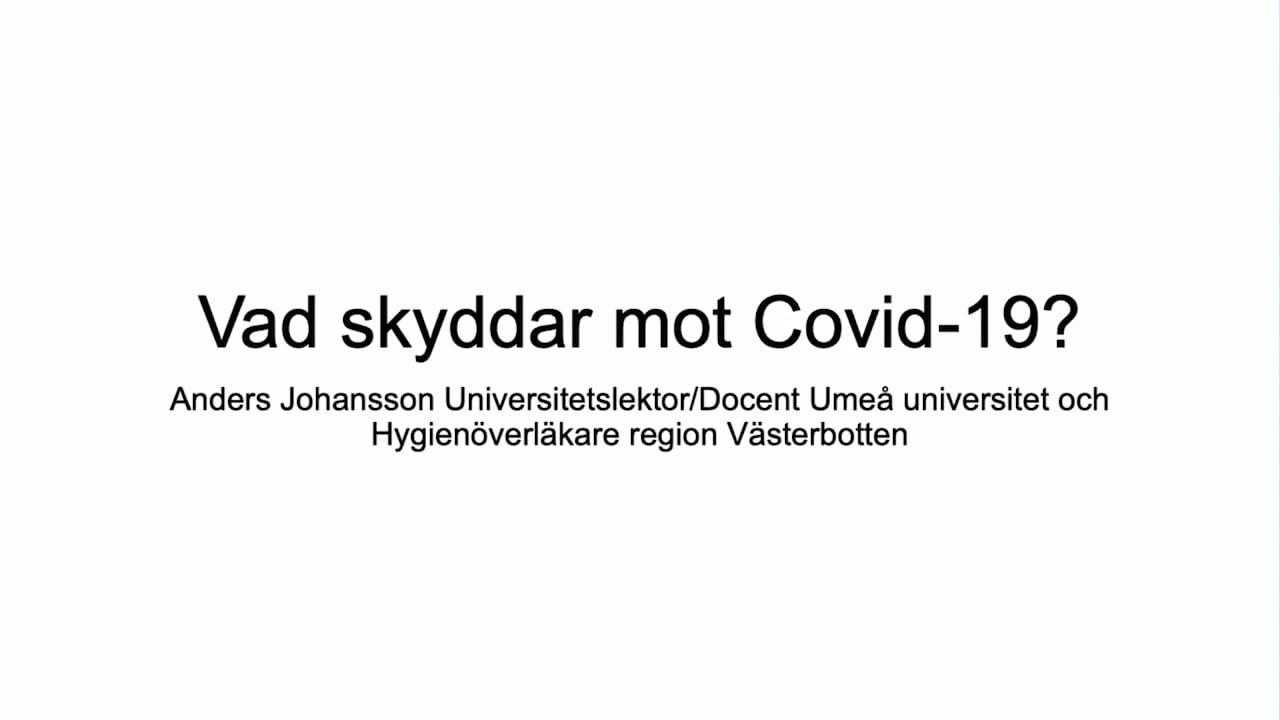 Film: Vad skyddar mot Covid-19?