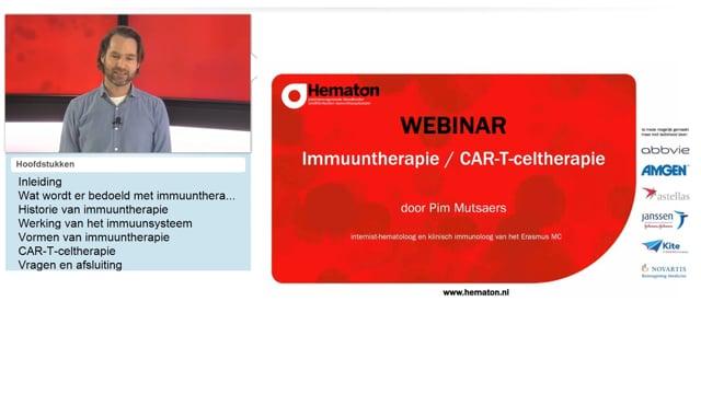 Webinar immuuntherapie / CAR-T-celtherapie